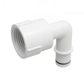"Adaptor for Rule Pump, 3/4"" Qwik-Lok to 1"" NPSM, elbow"
