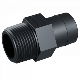 "Adapter 1"" NPT Male x 1-1/8"" Barb"