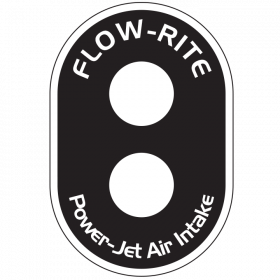 Power-Jet Air-intake Decal - Dual Port Decal w/ White Lettering